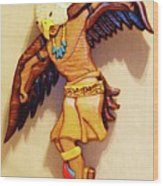 Intarsia Eagle Dancer Wood Print by Russell Ellingsworth
