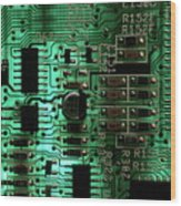 Integrated Circuit Board From A Computer Wood Print