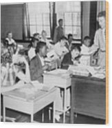 Integrated Classroom In Washington Wood Print
