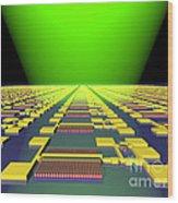 Integrated Nanowire Sensor Circuitry Wood Print