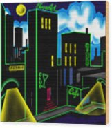 Intensecity Neon Nights Wood Print