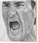 Intensity Federer Wood Print by Tamir Barkan