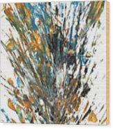 Intensive Abstract Painting 519.112011 Wood Print