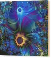 Inter-dimensional Daisies Wood Print