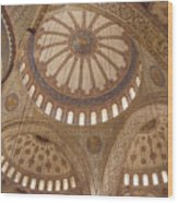 Inter Domes Of Sultan Ahmed Mosque Wood Print