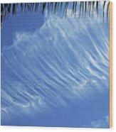 Interesting Clouds Over Phoenix Arizona Wood Print