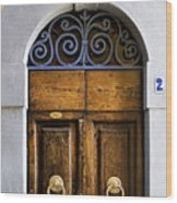 Interesting Door Wood Print