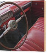 Interior Of A Classic American Car Wood Print by Sami Sarkis