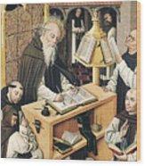 Interior Of A Scriptorium Wood Print