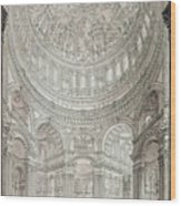 Interior Of Saint Pauls Cathedral Wood Print