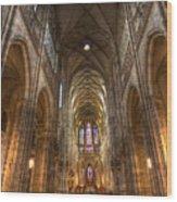 Interior Of Saint Vitus Cathedral Wood Print