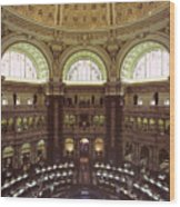 Interior Of The Library Of Congress Wood Print