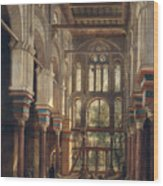 Interior Of The Mosque Of El Mooristan In Cairo Wood Print