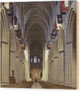 Interior Of The National Cathedral Wood Print