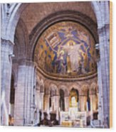 Interior Sacre Coeur Basilica Paris France Wood Print