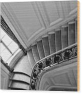 Interior Stairs Architecture  Wood Print