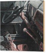 Interior Truck Wood Print