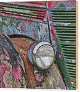 International Car Details Wood Print