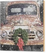 International Christmas Snow Wood Print