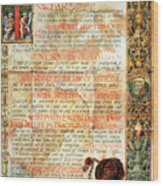 International Code Of Medical Ethics Wood Print by Science Source