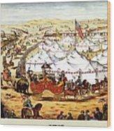 International Exposition - Vintage Circus Advertising Poster Wood Print