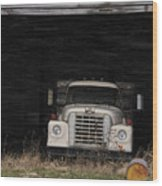 International Truck Wood Print