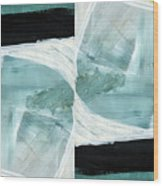 Intersection 37 Part 2- Art By Linda Woods Wood Print