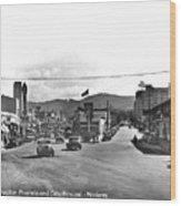 Intersection Of Alvarado And Calle Principal St.s, Monterey Circa 1940 Wood Print