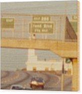 Interstate 44 West At Exit 287, Kingshighway Exit, 1980 Wood Print