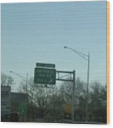 Interstate 70 East At Exit 242b, Jennings Sta. Rd North Exit, 1999 Wood Print