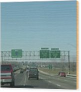 Interstate 70 West At Exit 231b, Earth City Expwy North Exit, 1999 Wood Print