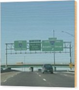 Interstate 70 West At Exit 232, Interstate 270 Exits, 1999 Wood Print