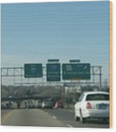 Interstate 70 West At Exit 234, Route 180 West Exit, 1999 Wood Print