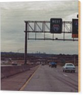 Interstate 70 West At Exit 8b, Interstate 435 North Exit, 1987 Wood Print
