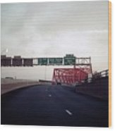 Interstate 74 East Approach Exit 94, Industrial Spur Exit, 1987 Wood Print
