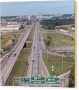 Interstate 74 West At Exit 95b, Route 116 East Exit, 1975  Wood Print