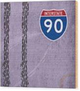 Interstate 90 Wood Print