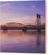 Interstate Bridge Wood Print