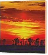 Interstate Sunset Wood Print