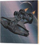 Interstellar Spacecraft Wood Print