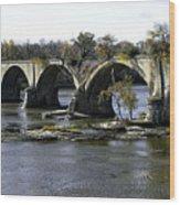 Interurban Bridge At Roche De Bout Wood Print