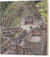 Intihuatana Pyramid Wood Print