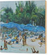 Intimacy On Vacation Wood Print
