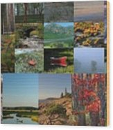 Intimate New England Landscape Photography Wood Print