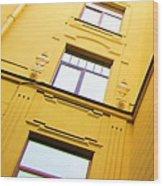 Into City Wood Print