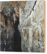 Into Crystal Cave Wood Print