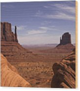 Into Monument Valley Wood Print