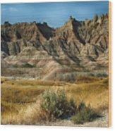Into The Badlands South Dakota Wood Print