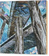 Into The Blue Again Wood Print