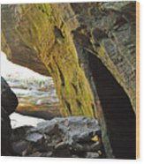 Into The Cave Wood Print